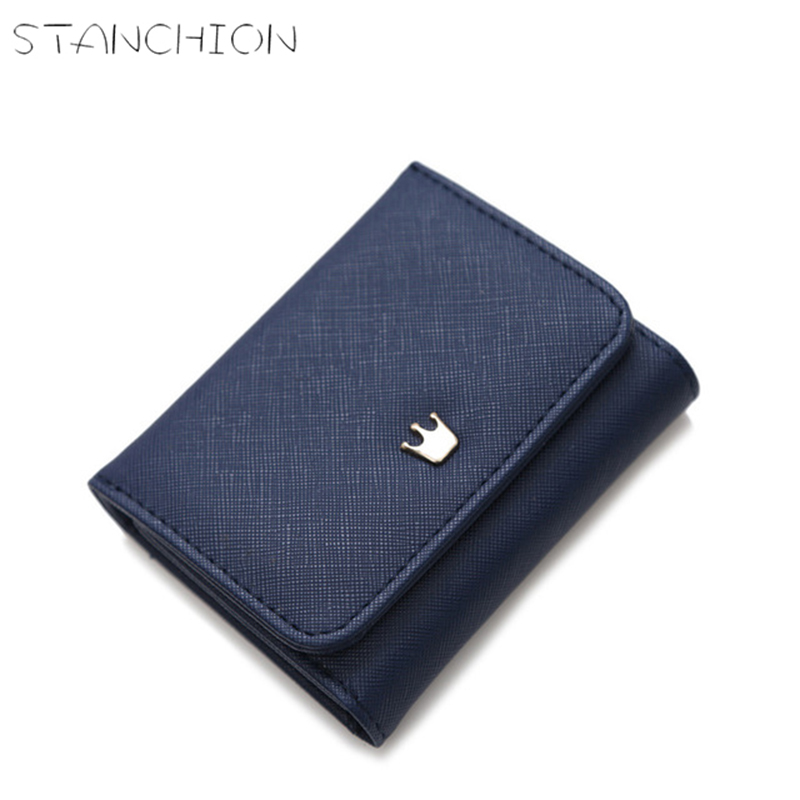 STANCHION Wallets Female New Crown Lady PU Leather Short Women Mini Money Purses Fold Bags Coin Card Holder proversion usb wifi 300mbps wireless n network adapter for xbox 360 live console