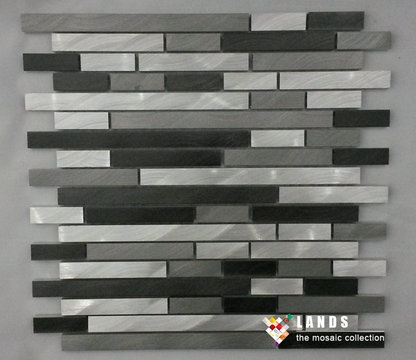 HOT!Black Grey Silver Aluminum metal mosaic wallpaper tile kitchen backsplash Fireplace background DIYdecor home sticker,LSALE06 полотенце для рук roma tile grey rom 110 tg 1208926