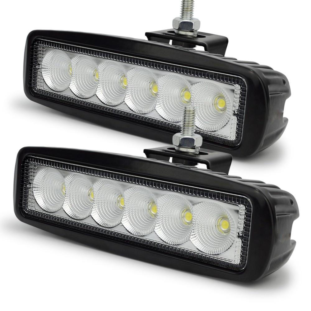 2 pcs 6 Inch 18 W LED Kerja Ringan untuk Indikator Motor Mengemudi - Lampu mobil - Foto 1