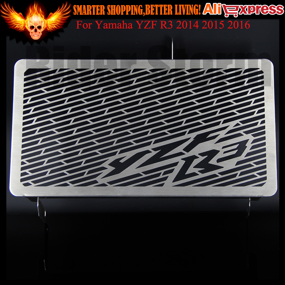 Motorcycle Radiator Protective Cover Grill Guard Grille Protector For Yamaha YZF R3 2014-2016 2015 YZFR3 arashi motorcycle radiator grille protective cover grill guard protector for 2008 2009 2010 2011 honda cbr1000rr cbr 1000 rr