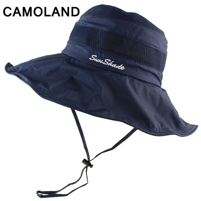 Waterproof Lightweight Summer Hats For Women Men Bucket Hat Rope Sun Hat  Outdoor Sunscreen Fishing Female Male Cap Uv Protect 1c9ab9d34cb7