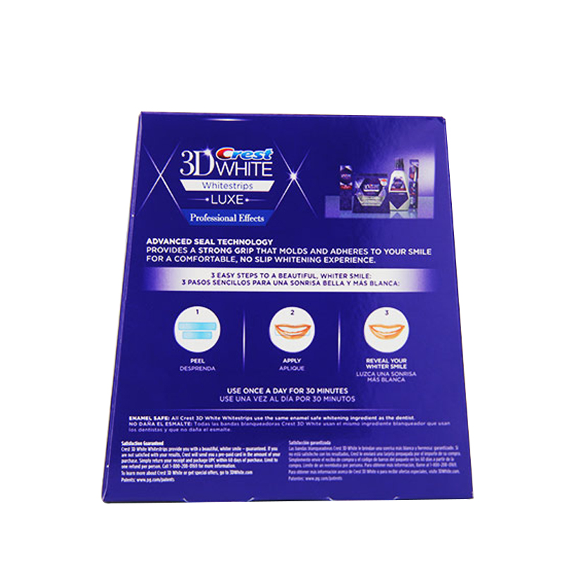 Crest 3D Whitestrips Professional Effects Tooth Bleaching Kit Oral Hygiene Teeth Whitening Strips 20 Pouch/Box or 10 Pouch/NoBox 3