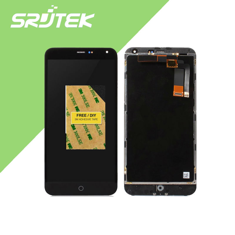 In Stock! Meizu M1 Note touch screen Digitizer +LCD Display For Meizu M1 Note 5.5 inch phone Black Color Free Shipping