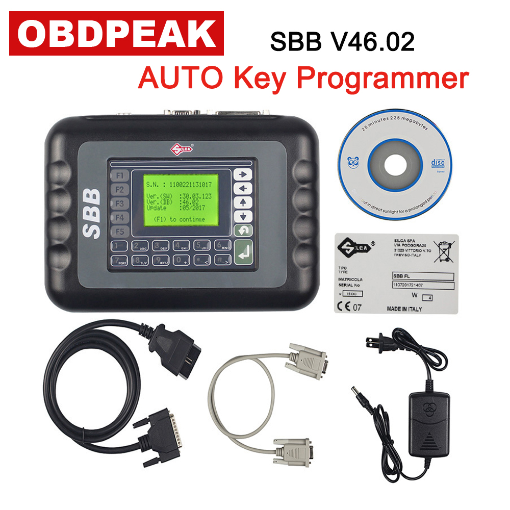 SBB V46.02 AUTO Key Programmer Update Of Silca SBB V33.02 Key Transponder Multi-Language Ulimited Tokens Free Shipping 2015 universal sbb key programmer by immobilizer for multi brands sbb silca v33 02 free shipping