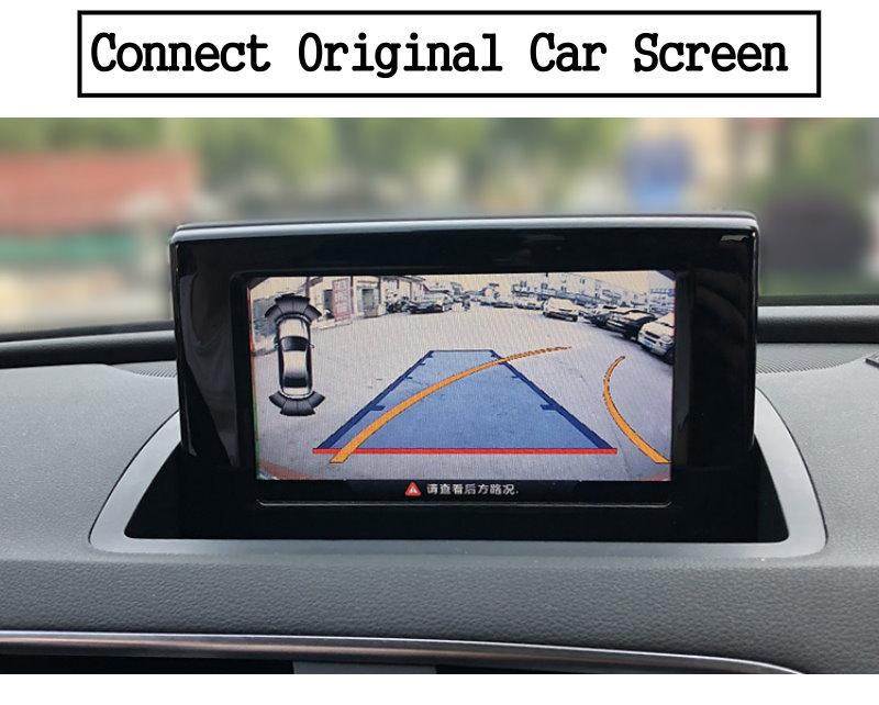 Liislee For Audi Q3 2010~2018 Front Rear View Reversing Camera Original screen upgrade Interface Adapter backup Camera Decoder 13