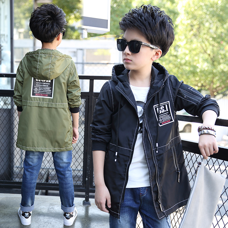 JENYA Childrens Clothing Boy  Hooded Coat Dust Warm Autumn And Winter Teenagers Kids Jacket cw308