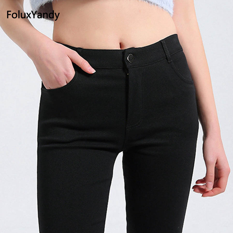 5 XL Slim Stretched Office Lady   Leggings   Women Plus Size Female Ankle-Length Skinny   Leggings   Black Trousers ADF34