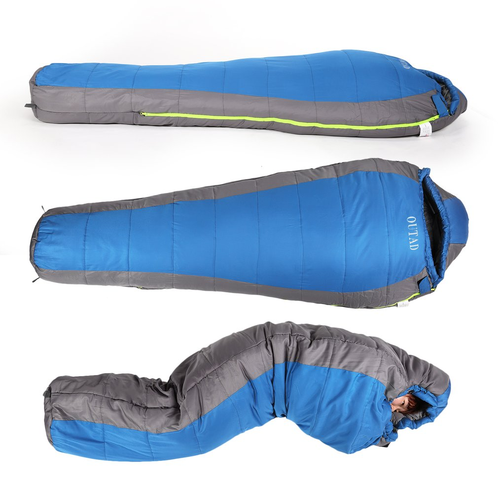 Winter Outdoor Camping Sleeping Bag Men Women Mummy Type Thermal Warm Cotton Sleeping Bag for Adventure Picnic Home 1.5-1.8KG outdoor winter camping tent backpacking mummy sleeping bag