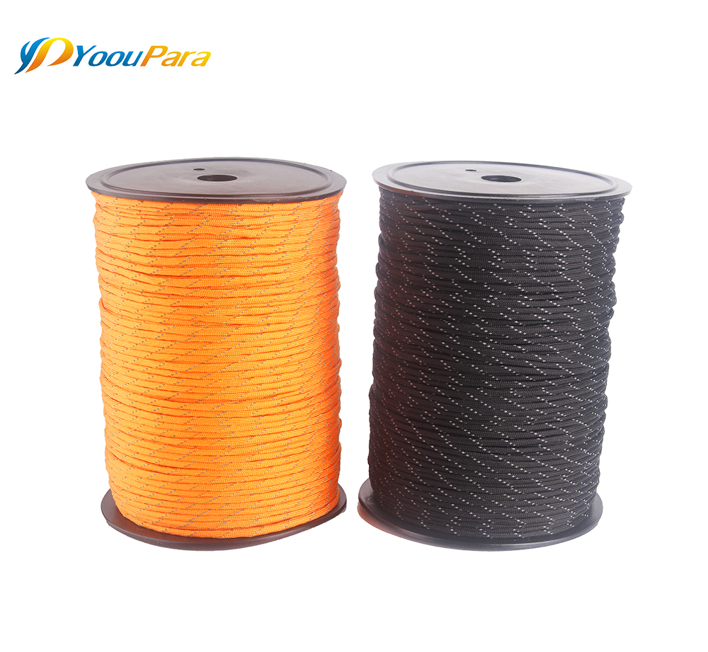 Image 3 - 10 Colors 1000FT Spools Reflective Paracord Rope 7 Strands For Camping Outdoor Survival Equipment DHL Free 12pcs/lot WholesaleParacord   -