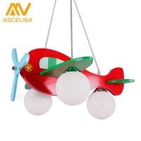 The Airplane Pendant Lamp For Children Bedroom Bee Cartoon Pendant Light Lampshade Modern Plane Children Night