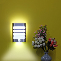 USB Rechargeable Wall Night Light PIR LED Motion Sensor Activated Lights Stick On Anywhere Wall Lamps