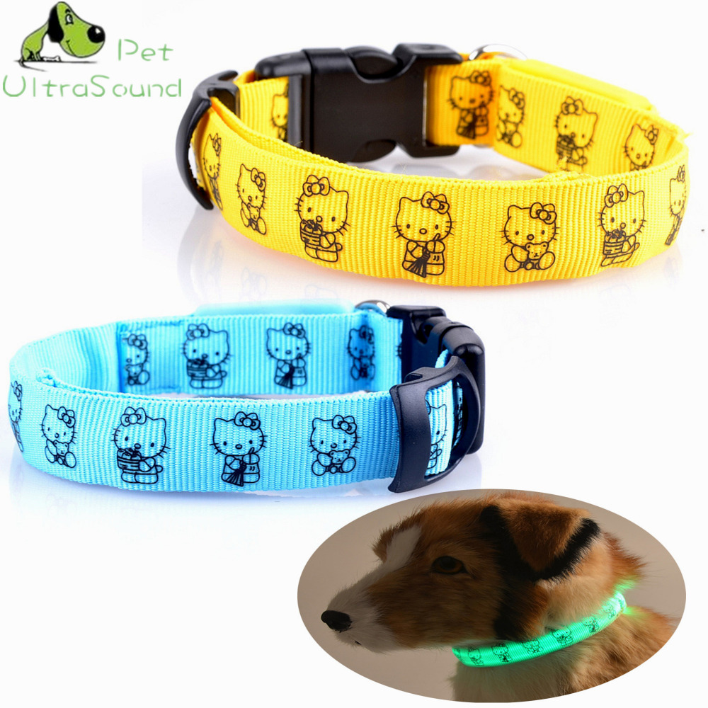 ULTRASOUND PET Safety Pet Collar For Lighted Up Nylon KT Cat LED Dog Collar Glow Necklace Household Pet Outdoor Playing At Night