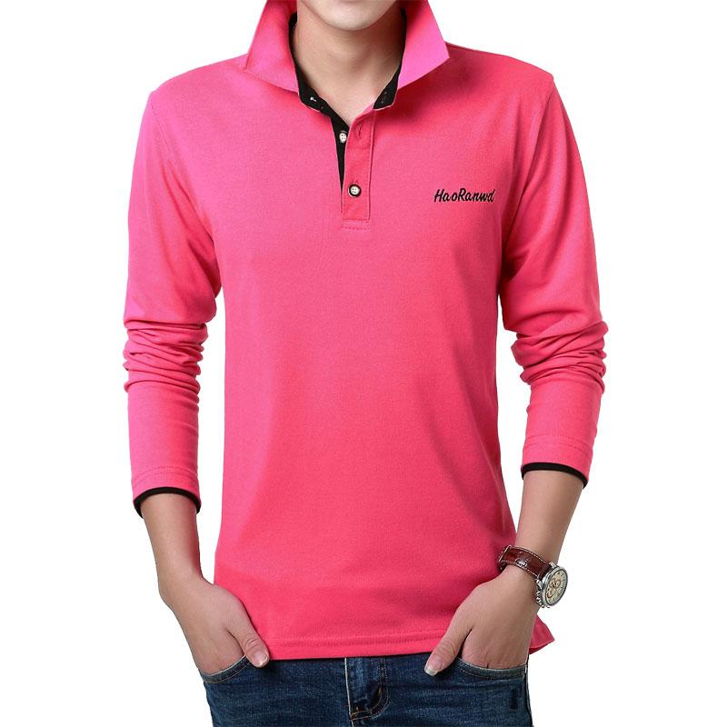 MarKyi 2017 Mode Bordir Logo Mens Polo Shirts Merek 23 Warna Kasual - Pakaian Pria - Foto 4