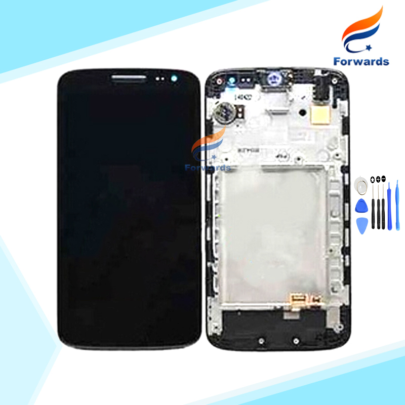 10pcs/lot DHL EMS free shipping New Tested LCD for LG G2 mini D620 D618 Screen Display with Touch Digitizer Frame Tools Assembly