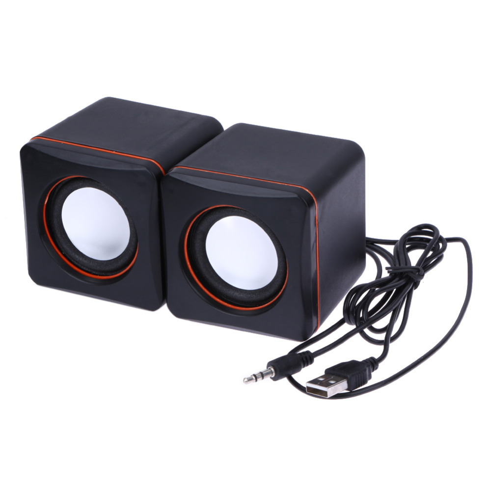Usb 3 5mm Aux Input Wired Speaker Computer Music Stereo