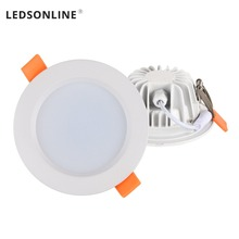 True Waterproof LED Downlight IP66 Fully sealed 5W 7W  Warm White Cold Recessed Lamp Spot Light shell AC85-277V