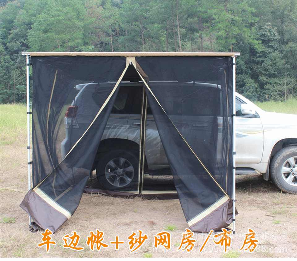 4Wd Awning Tent grntamn roof top tent sideawning mesh awning for car 4wd waterproof side  car tent with mesh cloth house sunshelter