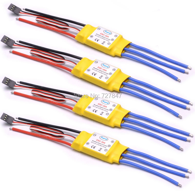 NEW 30A Brushless ESC helicopter multicopter Motor Speed Controller RC ESC for F450 S500 xxd 4pcs a2212 1000kv brushless motor with 4pcs 30a esc for multicopter quadcopter