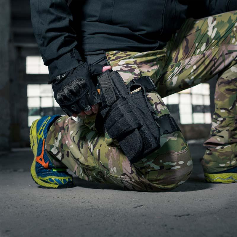 OneTigris 조정 가능한 드롭 다리 권총 전술 군사 Airsoft 권총 총 허벅지 홀스터 오른쪽 손으로 저격수