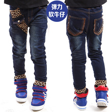 2017 children's clothing trousers kids jeans trend boys jeans pants leopard print boys denim pants big boys jeans