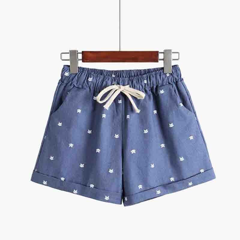 Sportswear Short-Bow Women's Lady New Cotton Cartoon Pattern Spring Loose Hallen Leisure