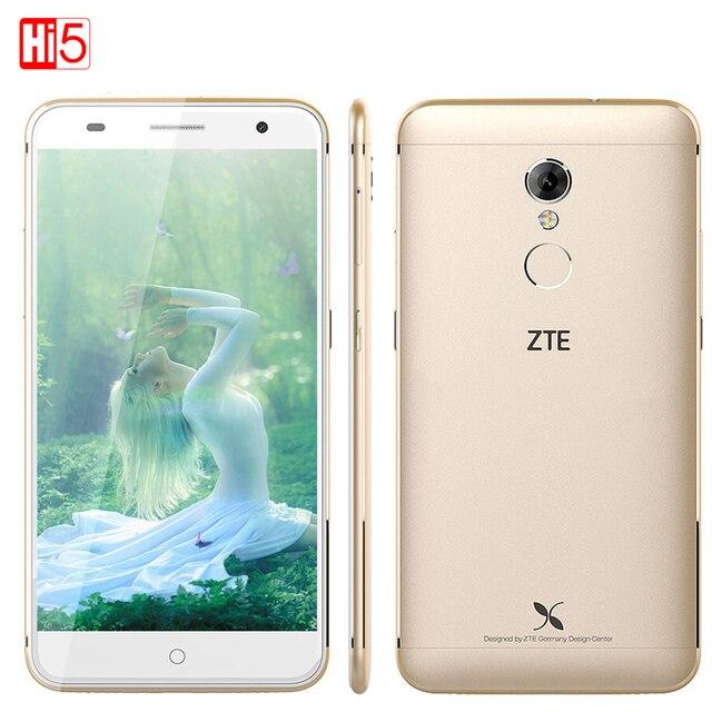 Оригинал ZTE Xiaoxian 4 BV0701 Мобильный телефон 5.2 дюймов 4 Г LTE Окта основные MT6735 1.3 ГГц 13.0MP Камера 2 ГБ RAM 16 ГБ ROMFingerprint