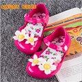 2016summer Insole13.5-16cm Girls sandals  Princess jelly Beach shoes baby Kids Shoes Chaussure Enfant 5color HX10