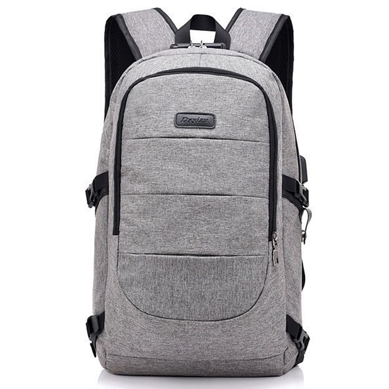 Waterproof Resistant Polyester Laptop Backpack With Usb Charging Port And Lock &headphone Interface For College Student Bagpack #2