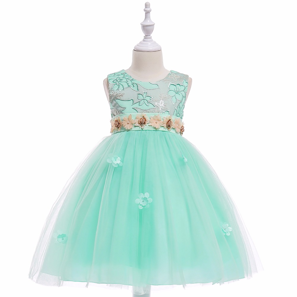 Summer   Flower   Lace   Girls   Wedding Pageant Party   Dresses   Formal Prom Gowns Size 3-12 years 2018   Flower     Girl     Dresses