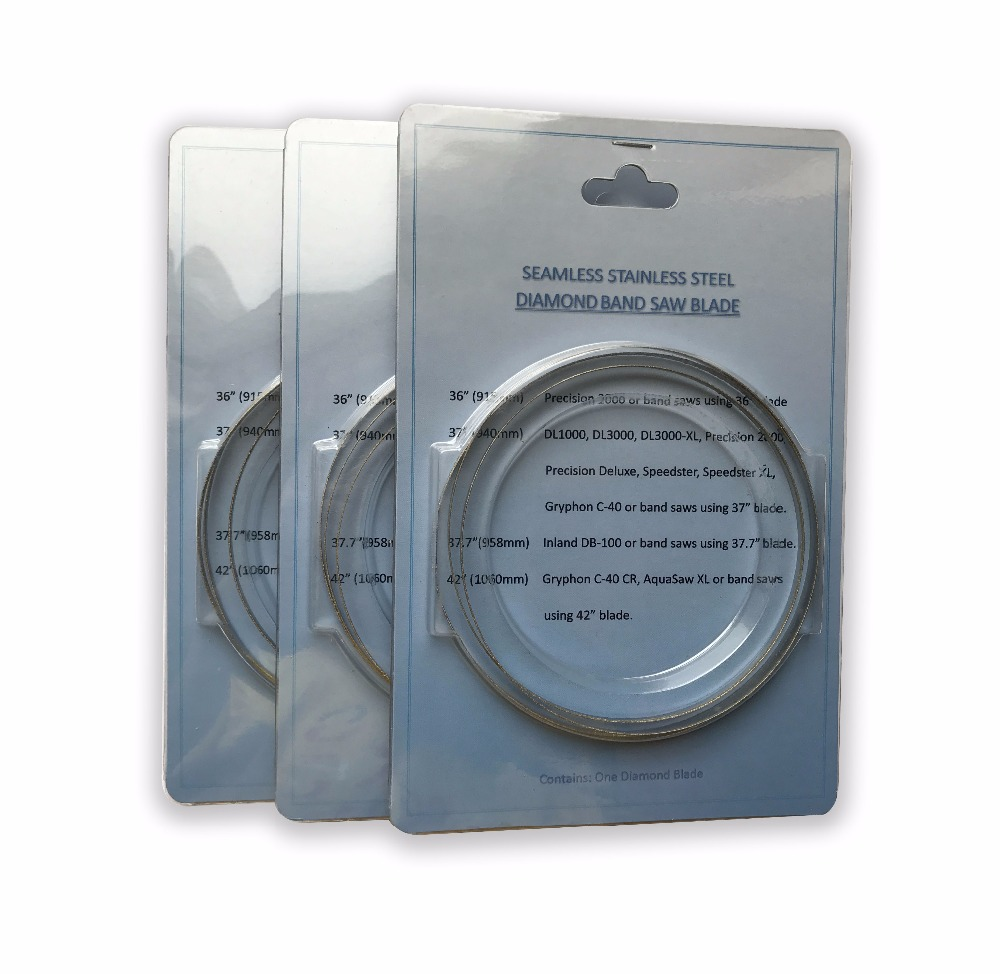 3pcs pack 37 37 7 Diamond Coated Replacement Band Saw Blade For XL 3000XL C40 DBS37S