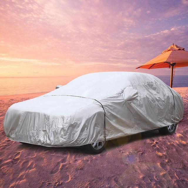 Sailnovo Taffeta 190T Waterproof Anti UV Heavy Duty Folded Full Car Cover With Carry