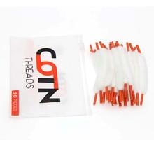 10 תיק סיגריה אלקטרונית Vape כותנה 20 רצועות/חבילה עבור RDA להרכבה עצמית RBA מרסס סליל חוט כותנה אורגנית