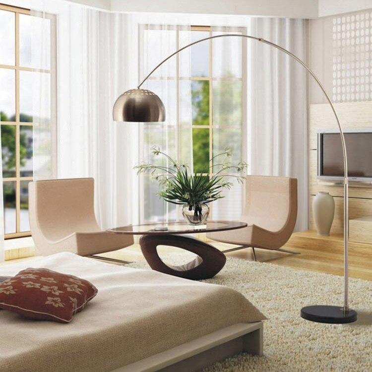 Bedroom Floor Lamp: After the Italian modern minimalist living room floor lamp creative lamp  bedside floor bedroom stylish lighting,Lighting