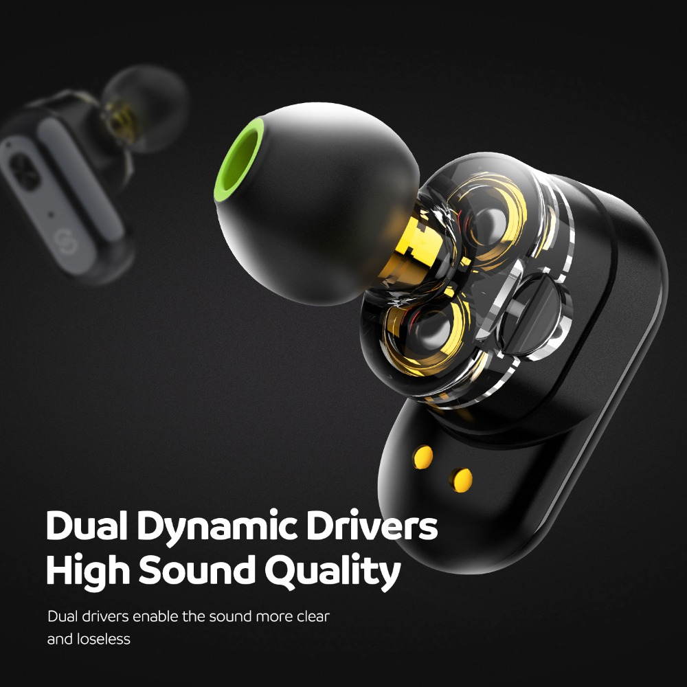 Image 2 - SoundPEATS True Wireless Earbuds Bluetooth 5.0 in Ear Stereo IPX6 Earphones Dual Dynamic Drivers Bluetooth Sweatproof Headset-in Bluetooth Earphones & Headphones from Consumer Electronics