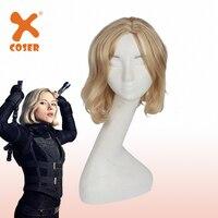 XCOSER Avengers: Infinity War Cosplay Black Widow / Natasha Romanoff Golden Wig Halloween Cosplay Costume Accessory For Women