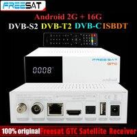Freesat GTC 위성 수신기 DVB-S2 DVB-C DVB-T2 ISDB-T 2 기가바이트 RAM 16 기가바이트 ROM BT4.0 Amlogic S905D 셋톱 박스 안드로이드 6.0 TV 상자