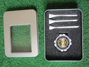 Image 3 - Ücretsiz kargo golf aksesuarları hediye golf poker çip topu işaretleyici topu tee teneke kutu