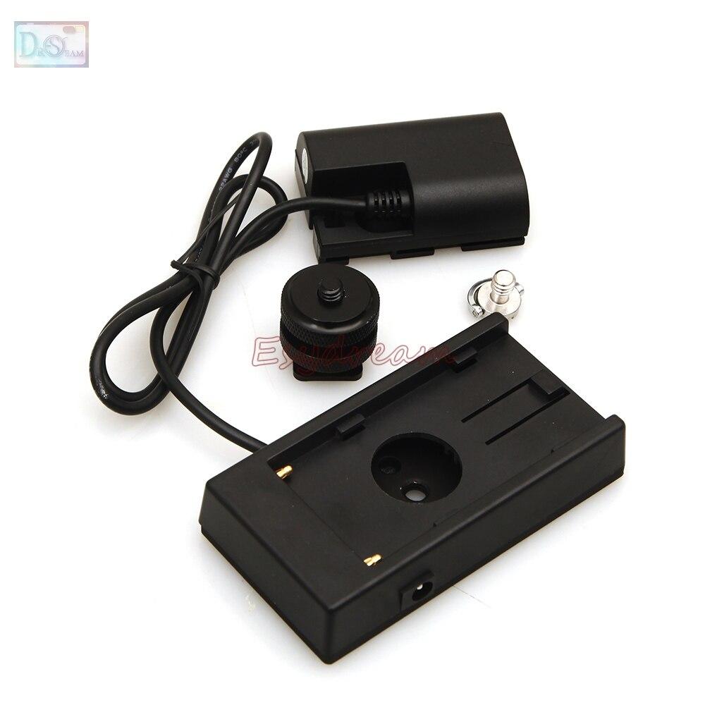LP-E6 E6 Dummy Batterie Adaptateur + F970 F960 Alimentation Plaque de Montage pour canon 5d 7d mark ii iii iv 6d 60d 70d 80d 5ds r