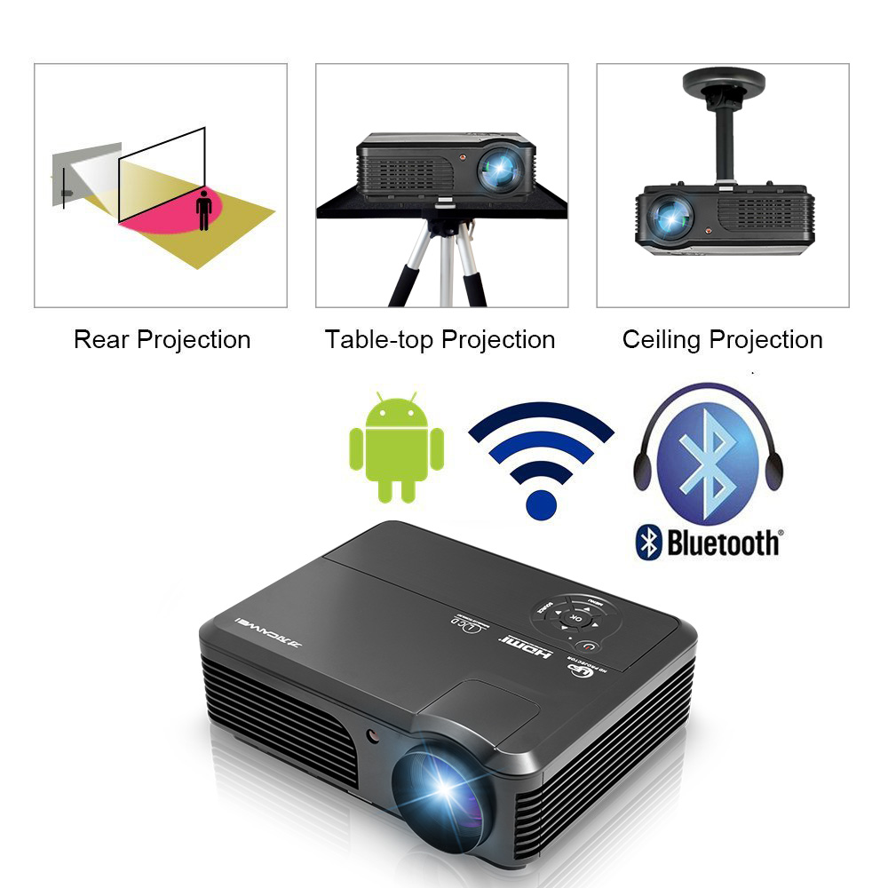 Sound charm Full HD LED TV Android Home Theater Video Projector ...