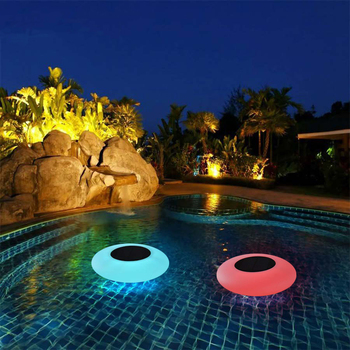 Solar Pool Lights, Solar Floating Light with Remote Control Multi-Color Changing Waterproof Outdoor Garden Lights