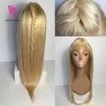 Лучшее Качество #613 Виргинских Бразильских Волос Полный Шнурок Человеческих Волос Парики блондинка Для Женщин 100% Человеческих Волос Парик Фронта Шнурка С Ребенком волос