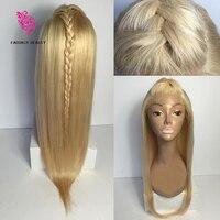 Best качество #613 Реми волосы Full Lace человеческих волос парики блондинки для Для женщин 100% человеческих волос Синтетические волосы на кружеве п