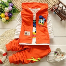 2018 New Donald Duck Mickey Hoodie Jacket Cartoon Boys Clothes Kids Clothes Boys Print Sportswear Outerwear Children Clothing
