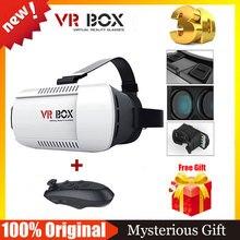Google Картон HeadMount VR КОРОБОЧНОЙ Версии VR Виртуальная Реальность 3D Очки Очки + Bluetooth Беспроводной Пульт Дистанционного Управления Геймпад