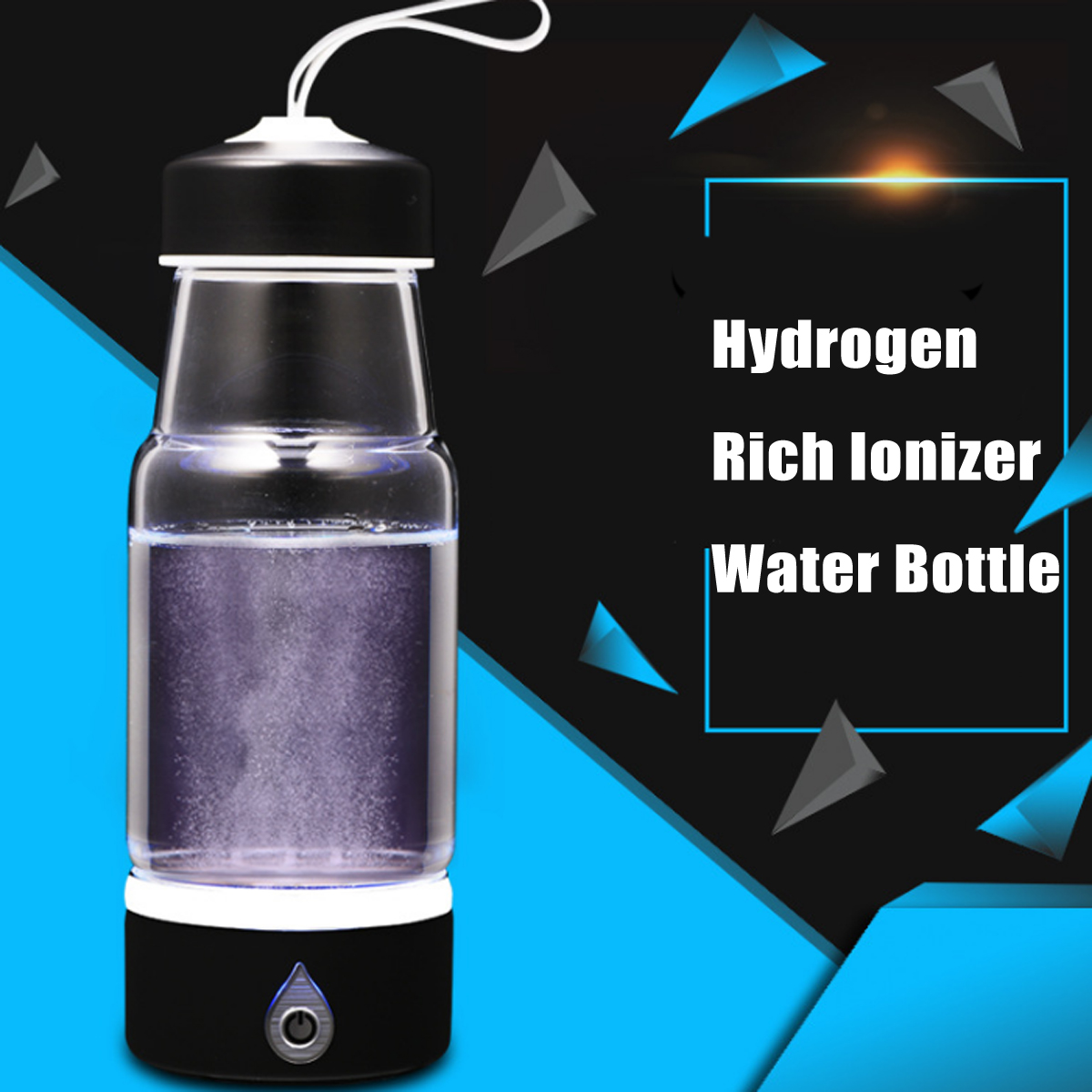 380ml USB Rechargeable Hydrogen Water Generator Intelligent Hydrogen Rich Water Bottles Alkaline Water Maker Portable Purifier ac110 240v 500ml intelligent electric hydrogen rich water ionizer maker generator
