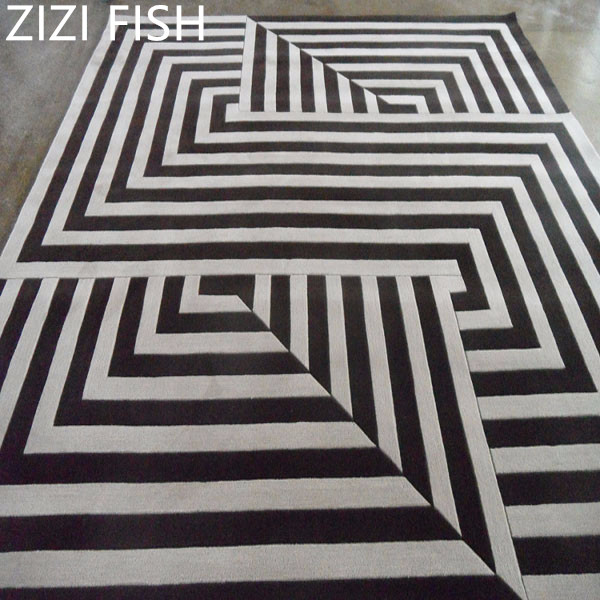 Acrylic Carpet Black and white Alfombras Tapete Rug Carpets for a modern living room Rugs and