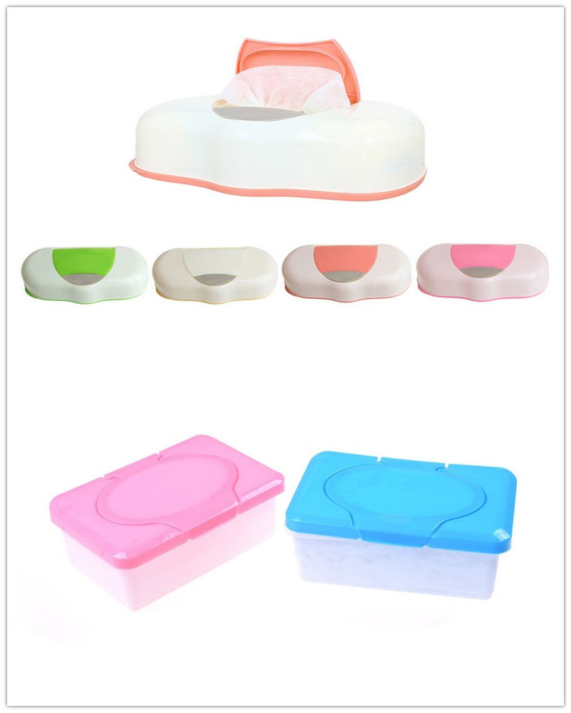 1PCS 80 Sheets Wet Tissue Box Plastic Wipes Storage Case Refillable Container Baby Organizer