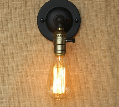 Edison Wall Sconce Retro Loft Style Industrial Vintage Wall Lamp Band Switch  Wall Light Fixtures For Indoor Lighting Lampara In Wall Lamps From Lights  ...