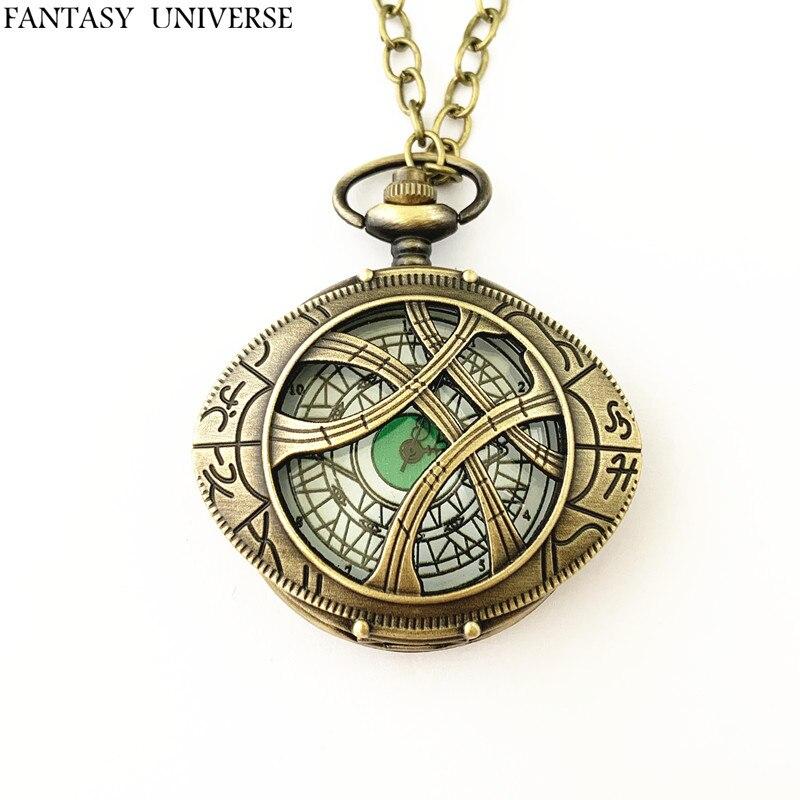 Fantasía universo envío gratis 20 piezas mucho Doctor extraño reloj de bolsillo collar HRDKFJFF088-in Collares colgantes from Joyería y accesorios    1