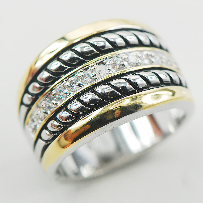 Gratë e Modës 925 Unazë Argjendi Sterling F869 Madhësia 6 7 8 9 10